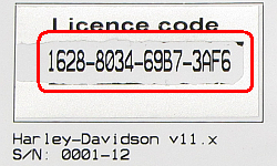Licence code